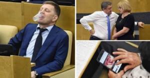 """რუსეთის დუმას დეპუტატები ძალზე სახალისო სიტუაციებში, არც ჩვენი პარლამენტი """"წყვეტს ვარსკვლავებს"""", მაგრამ დუმის დეპუტატების საქციელი ნამეტანია"""