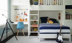 იდეები ორსართულიანი საწოლისთვის - სივრცის დაზოგვის ყველაზე ეფექტური ხერხი