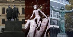 რატომ გაუკეთეს თბილისში ძეგლებს პირბადეები - უცნაური აქცია დედაქალაქში!