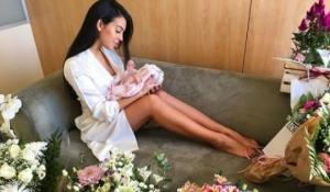 კრიშტიანო რონალდუს ქალიშვილის პირველი ფოტო სოციალურ მედიას იპყრობს