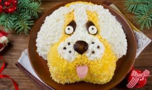 """საახალწლო სალათა ,,ძაღლი"""""""