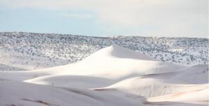 უდაბნოში მოთოვა
