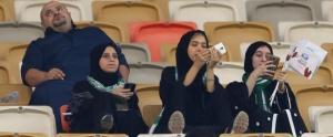 საუდის არაბეთში ქალები საფეხბურთო მატჩს დაესწრნენ