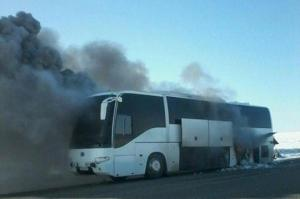 საშინელი ტრაგედია ყაზახეთში-ავტობუსში ცოცხლად დაიწვა 52 ადამიანი