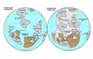 პირველი სუპერკონტინენტი - ნუნა იგივე კოლუმბია