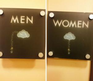 ყველაზე კრეატიული ტუალეტის ნიშნები-არავითარი  M და  W
