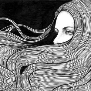 გრძნობების მხატვარი - ტუშის კალმით დახატული ულამაზესი ნახატები