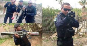 პატიმრების მიერ დამზადებული ხელნაკეთი იარაღები
