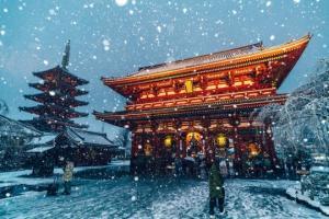 თოვლის საბურავში გახვეული ტოკიო