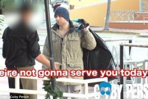 სოციალური ექსპერიმენტი-მილიონერმა ქუჩის მაწანწალასავით ჩაიცვა და რესტორანს მიაკითხა(ვიდეო)
