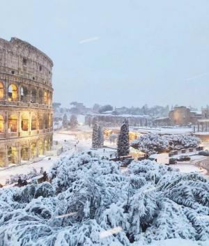 დათოვლილი ევროპა -  ფოტო რეპორტაჟი იტალიიდან