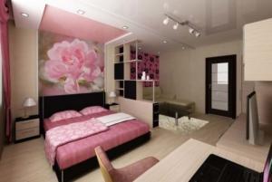 როგორ გავაერთიანოთ სასტუმრო ოთახი და საძინებელი - ადგილის დაზოგვის ეფექტური ხერხი პატარა ბინისთვის