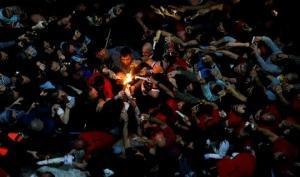 """სომეხიარქიმანდრიდისსკანდალურიინტერვიუ იერუსალიმში """"წმინდაცეცხლის"""" გარდამოსვლაზე"""