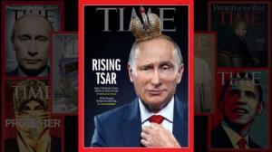 """ამერიკულ ჟურნალ """"თაიმის""""გარეკანზე პუტინი ამჯერად გვირგვინით მოხვდა"""