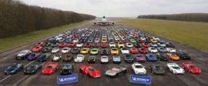 დიდ ბრიტანეთში, 106 მლნ დოლარის ღირებულების 300-ზე მეტი მანქანა იყო წარმოდგენილი