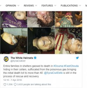 სირიაში ქიმიურმა იარაღმა 40 ადამიანი იმსხვერპლა