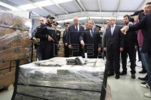 ესპანურმა პოლიციამ ბანანის კონტეინერში რეკორდული რაოდენობის კოკაინი აღმოაჩინა