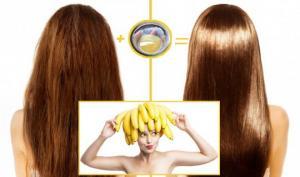 ბანანის ნიღაბი თმის ზრდის სტიმულირების და ბუნებრივი ლამინირებისთვის