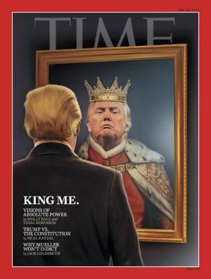"""""""მე ვარ მეფე""""-დონალდ ტრამპი ჟურნალ  Time-ის გარეკანზე"""