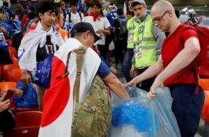 იაპონელმა გულშემატკივრებმა სტადიონზე მოქცევის კულტურა შეცვალეს