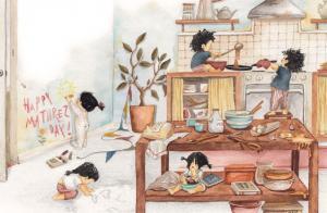 ნამდვილი ბედნიერება - ოჯახური ილუსტრაციები, რომლებიც გულს გაგითბობთ