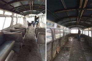 ქალმა 3 წელი გაატარა ძველი ავტობუსის გადაკეთებაში, ახლა კი ის სახლზე უკეთ გამოიყურება