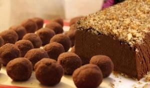 შოკოლადის «ბურთულები» და იტალიური დესერტი  (გამოცხობა არ უნდა)