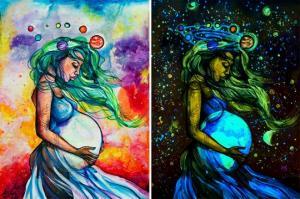 ნახატები, რომლებიც თავის რეალურ სათქმელს სიბნელეში გამოხატავენ მხოლოდ....