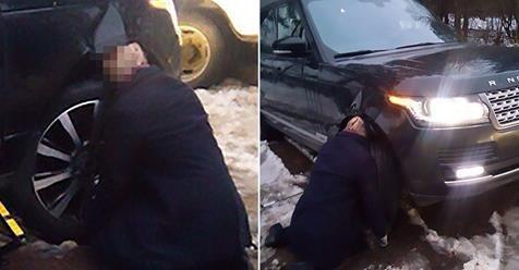 მძღოლის უცნაური სიკვდილი, იგი მანქანის ძარასა და საბურავს შორის თავით გაიჭედა