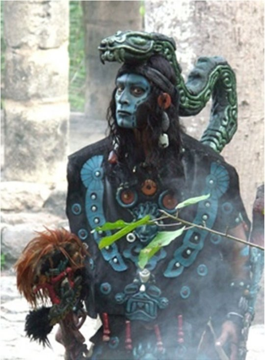 ძველი მაიას ხალხის წარმომადგენელი