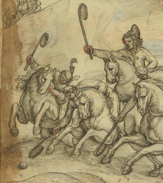 ქართველები თამაშობენ პოლოს მე-17 საუკუნეში