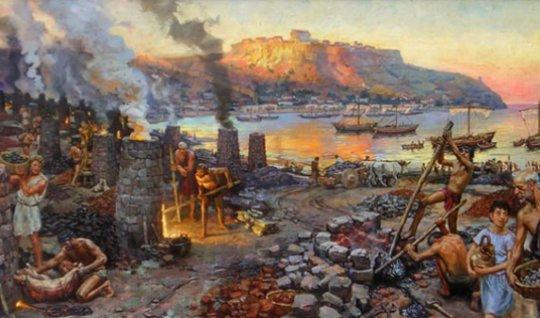 ძვ.წ,  მე-40 საუკუნის მეტალურგიის კერა საქართველოში