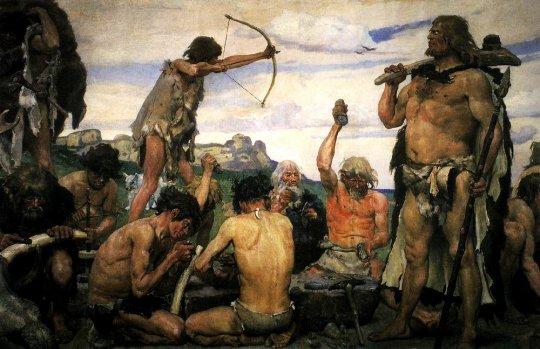 პალეოლითის ხანის ადამიანები სამხ. კავკასიაში