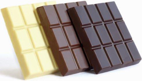 თეთრი,  შავი შოკოლადი