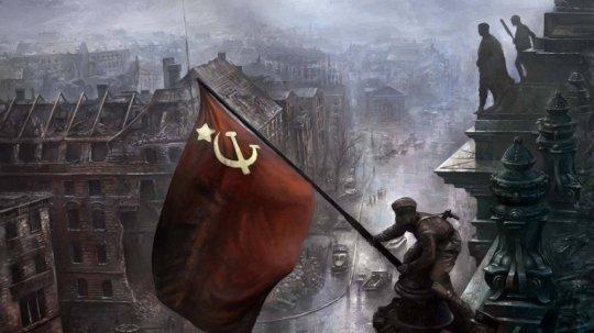 მელიტონ ქანთარია რაიხსტაგზე აღმართავს საბჭოთა დროშას