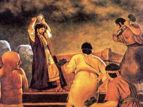 ქრისტიანები ანგრევენ ნეკრესის მზის ტაძარს