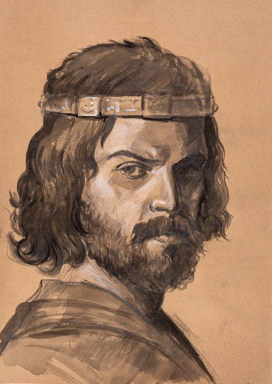 გიორგი XI - ქართლის მეფე. ნახატის ავტორი: თორნიკე ტყემალაძე