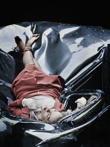 Actress Evelyn McHale,  after jumping off the Empire State Building,  NYC,  1947. The most beautiful su