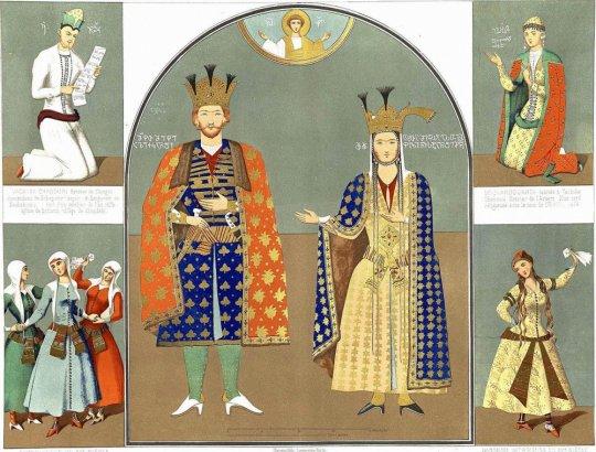 ალექსანდრე I და დარეჯან დედოფალი. ავტ: გაგარინი