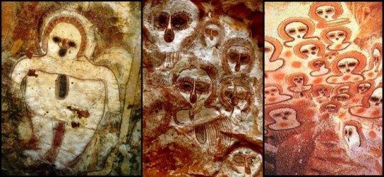 ვანჯინა - უცხოპლანეტელების 5000 წლის წინანდელი გამოსახულებები ავსტრალიაში