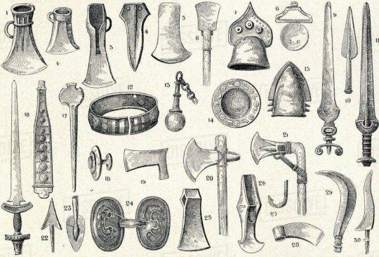 ბრინჯაოს ხანის იარაღები და არტეფაქტები