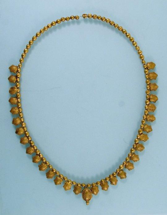 კოლხეთი. Necklace. Gold,  L 33 cm. Kingdom of Colchis. Vani. 5th century B.C.