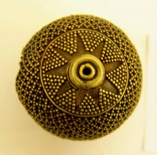 კოლხეთი. Bead. Gold,  diameter 4.1 cm. Colchis. Imereti. 8th century BC.