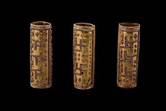 კოლხეთი. Colchian treasure with Swasticas. found in Imereti region. Vani.