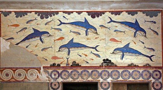 მინოსის სასახლის დელფინების ფრესკა