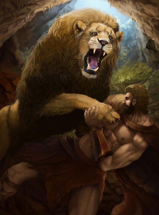 ლომთან მეომარი ჰერაკლე