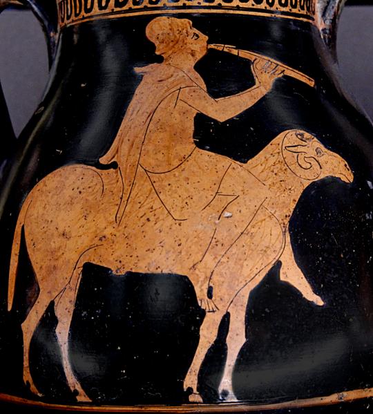 ფრიქსე წმინდა ვერძზე. ძვ.წ. 470 წ.