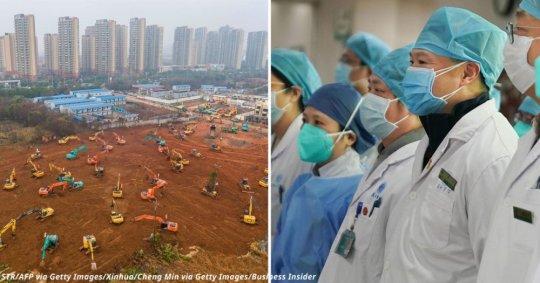 ჩინეთი არასაკმარისი ადგილების გამო საავადმყოფოებს 6 დღეში აშენებს