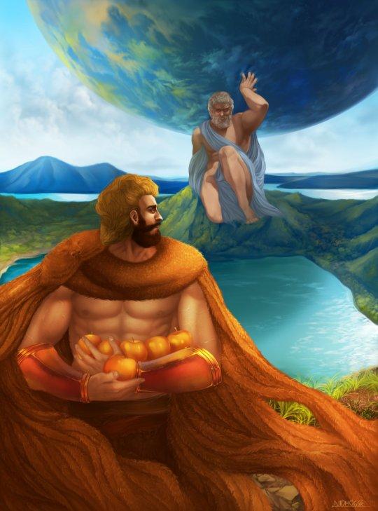 ჰერაკლე და ჰესპერიდების ოქროს ვაშლები