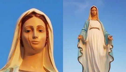 იტალიაში წმინდა მარიამი სისხლიანი ცრემლებით ტირის